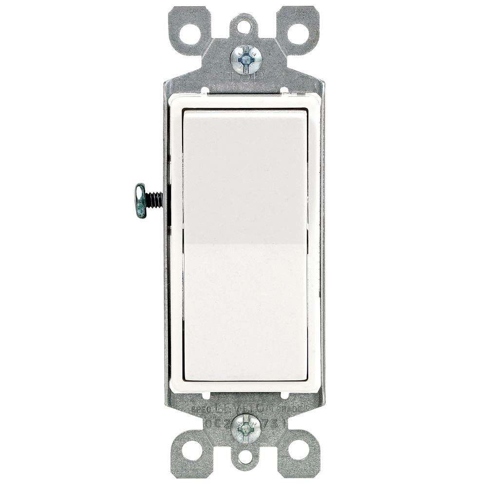 hight resolution of leviton decora 15 amp single pole ac quiet switch white 6