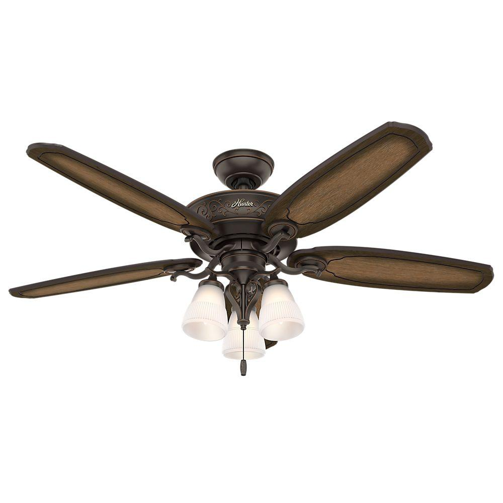 medium resolution of hunter osbourne 54 in indoor onyx bengal bronze ceiling fan with light kit