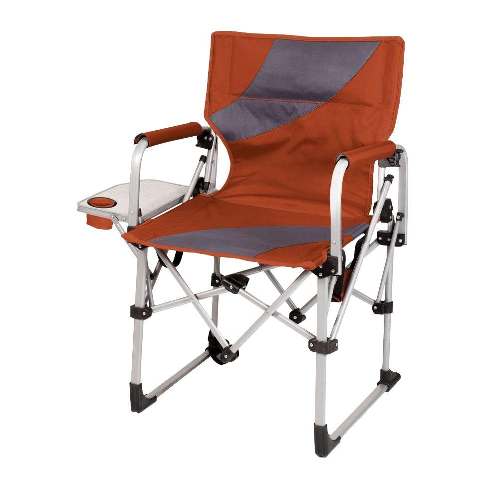 Foldable Patio Chairs Picnic Time Burnt Orange Meta Portable Folding All In One Patio Chair