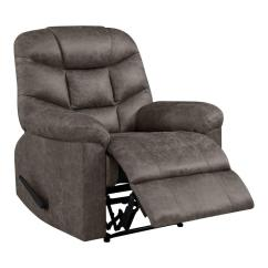 Wall Hugger Recliner Chair Blue Slipcovers In Gray Distressed Faux Leather Rcl7 Nks15 Wh The Home Depot