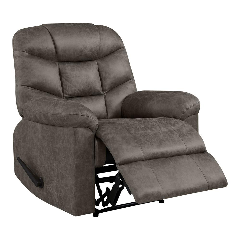 Wall Hugger Lift Chair Wall Hugger Recliner In Gray Distressed Faux Leather Rcl7 Nks15 Wh