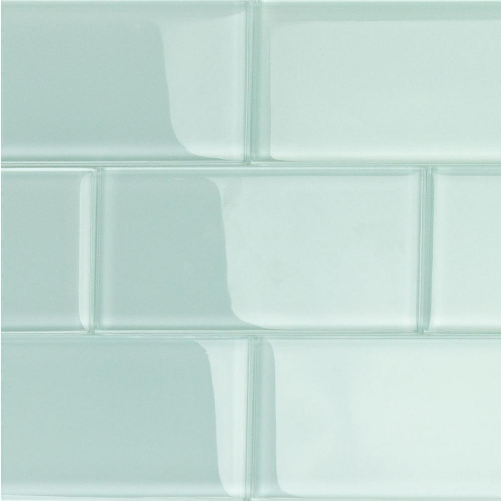 Contempo Seafoam Polished  In X  In X  Mm Glsubway Tile