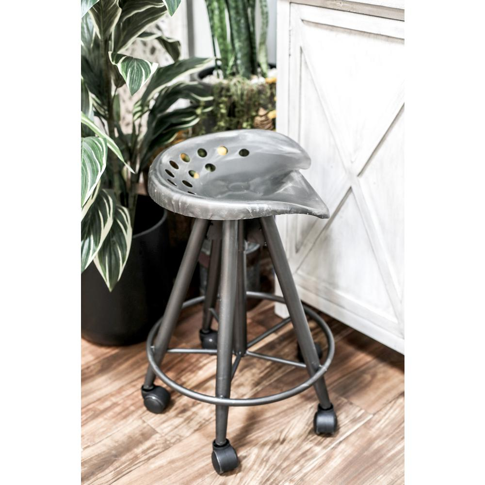 stool chair on wheels office gold litton lane 23 in black adjustable bar with 14922