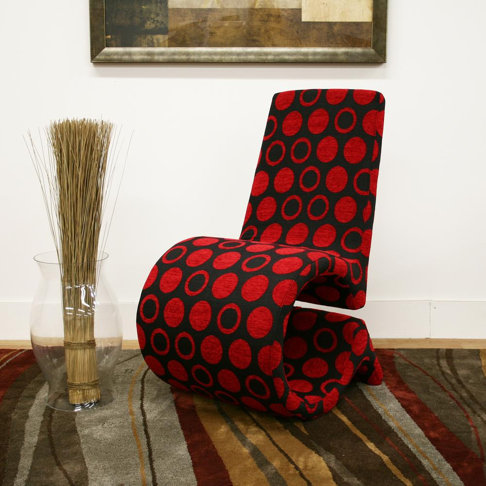 Red Print Accent Chair