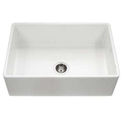 kitchen sink white sinks drop in double bowl farmhouse apron the home depot platus series front fireclay 33 single