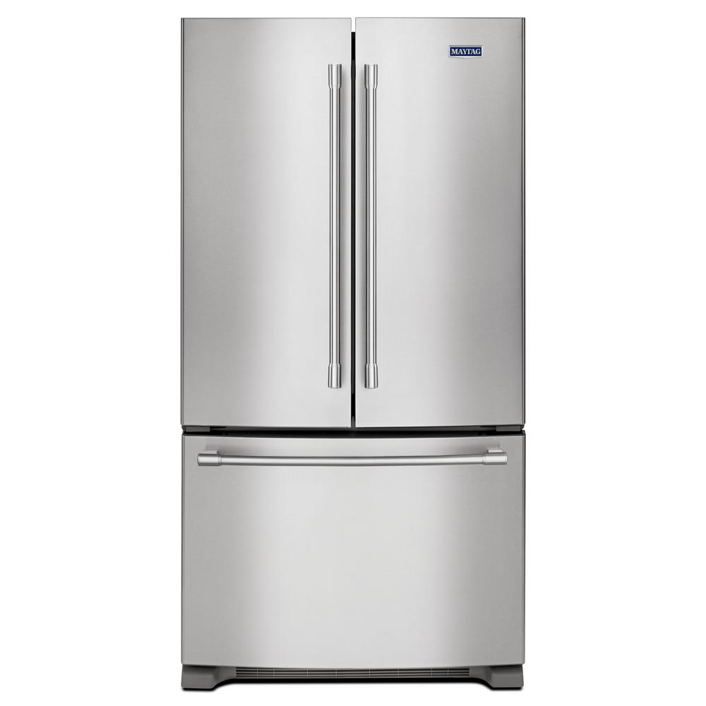medium resolution of maytag 25 cu ft french door refrigerator in fingerprint resistant maker models schematic maytag side by side factory installed ice maker