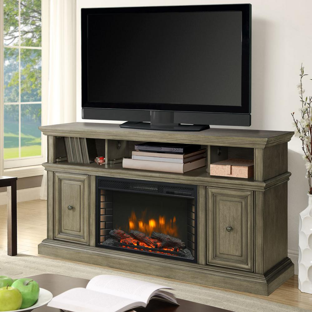 Muskoka McCrea 56 in Media Electric Fireplace in Dark Weathered Gray370148205  The Home Depot
