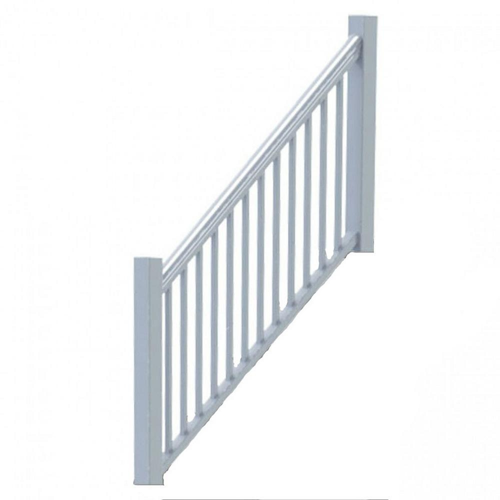 Rdi Original Rail Vinyl 8 Ft X 36 In 32° 38° Stair Rail Kit | Home Depot Handrails For Outdoor Steps | Wrought Iron Stair | Pressure Treated | Porch Railings | Metal | Railing Ideas