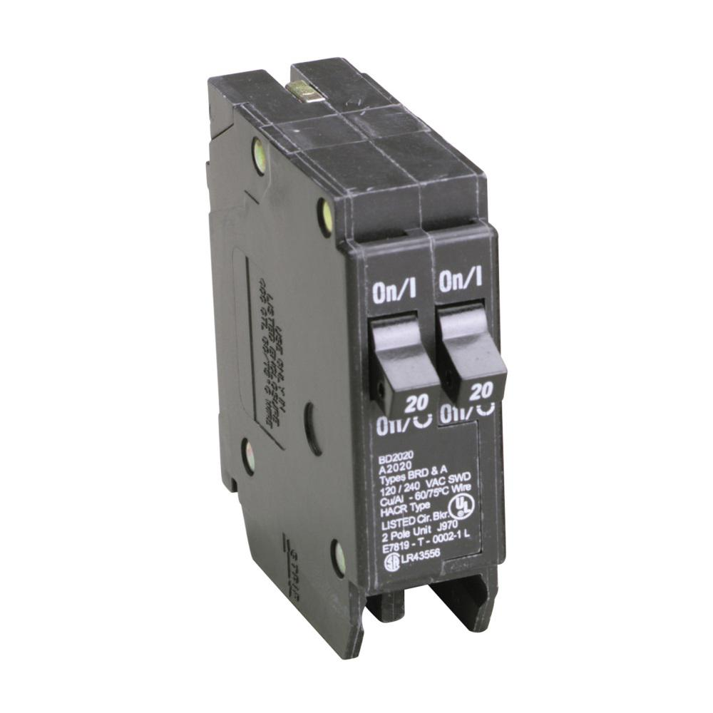 Eaton Br Type 15 20 Amp Singlepole Bd Tandem Circuit Breakerbd1520