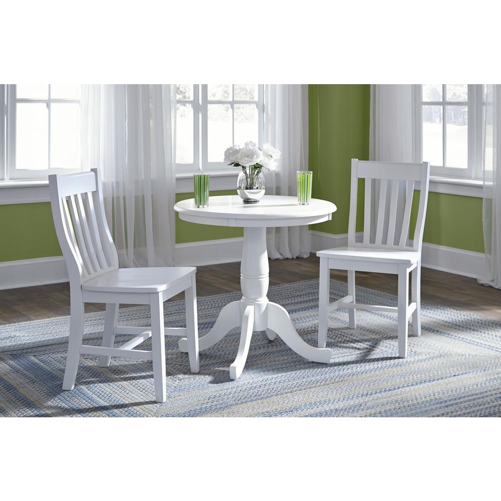 pedestal kitchen table gift baskets international concepts pure white round dining k08