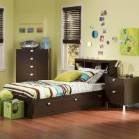 South Shore Spark 3 Piece Chocolate Twin Bedroom Set ...