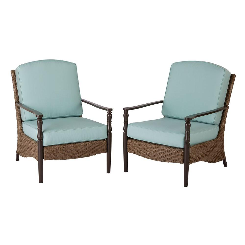 Woven Lawn Chair Home Decorators Collection Bolingbrook Lounge Wicker Outdoor Patio Chair 2 Pack