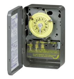 t102 40 amp 24 hour mechanical time switch with indoor steel enclosure [ 1000 x 1000 Pixel ]
