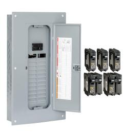 square d homeline 100 amp 24 space 48 circuit indoor main breaker plug  [ 1000 x 1000 Pixel ]