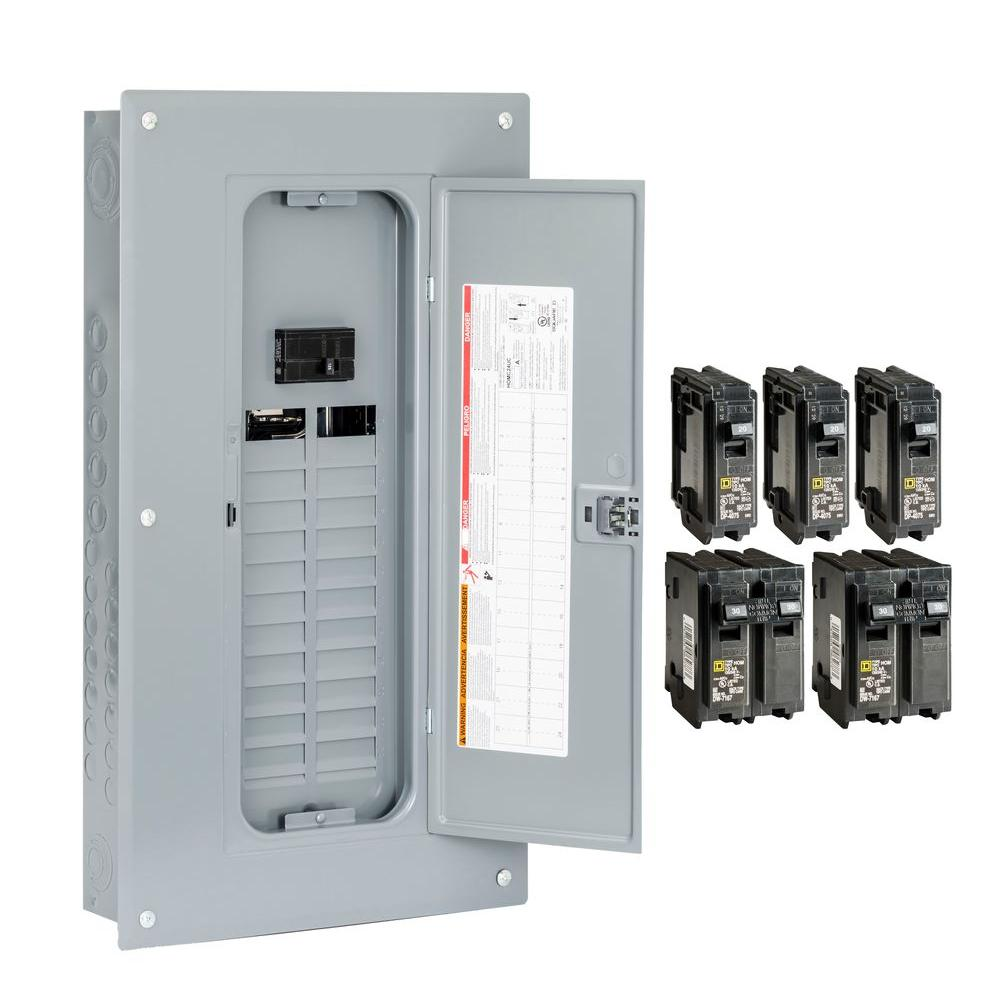 hight resolution of square d breaker boxes power distribution the home depot lennox fuse box homeline 100 amp 24