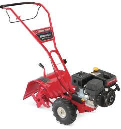 troy bilt bronco 14 in 208 cc ohv engine rear tine counter rotating gas tiller with one hand operation [ 1000 x 1000 Pixel ]