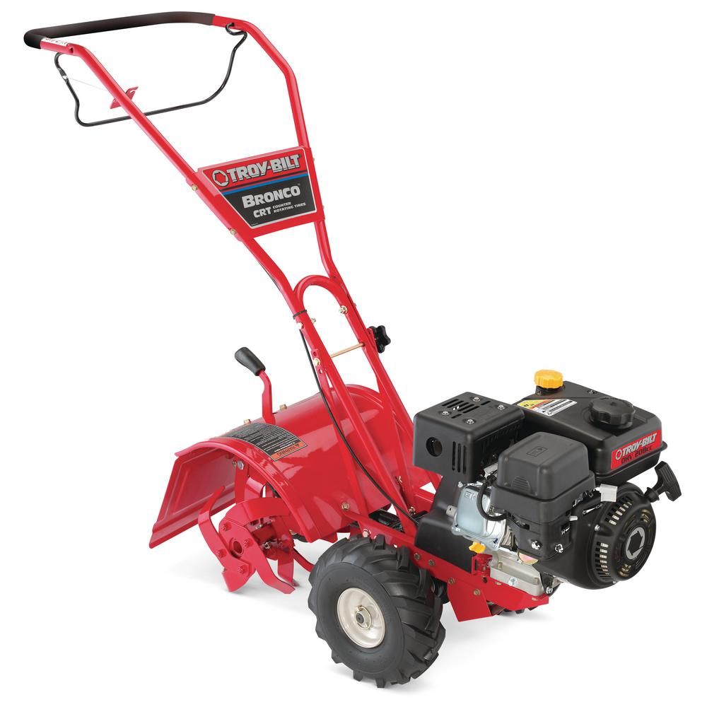 medium resolution of troy bilt bronco 14 in 208 cc ohv engine rear tine counter rotating gas tiller with one hand operation