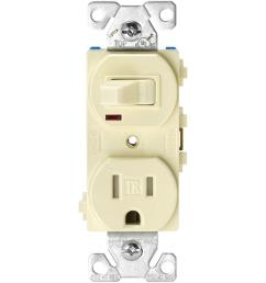 eaton 15 amp 120 volt 5 15 3 wire combination receptacle and toggle wiring devices tr274v 3wire receptacle combo singlepole switch [ 1000 x 1000 Pixel ]