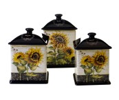 sunflower kitchen canisters