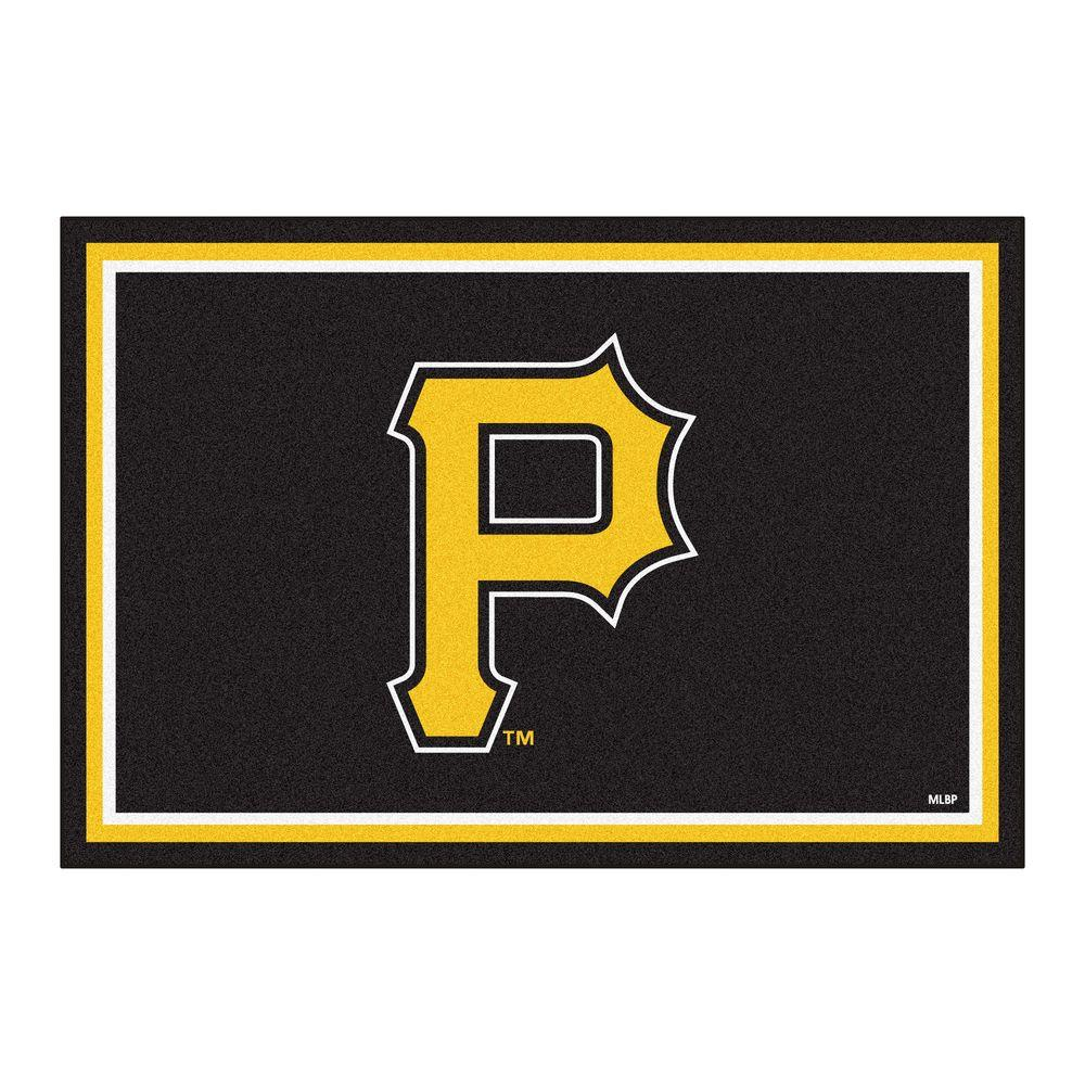 FANMATS Pittsburgh Pirates 5 Ft X 8 Ft Area Rug 7078