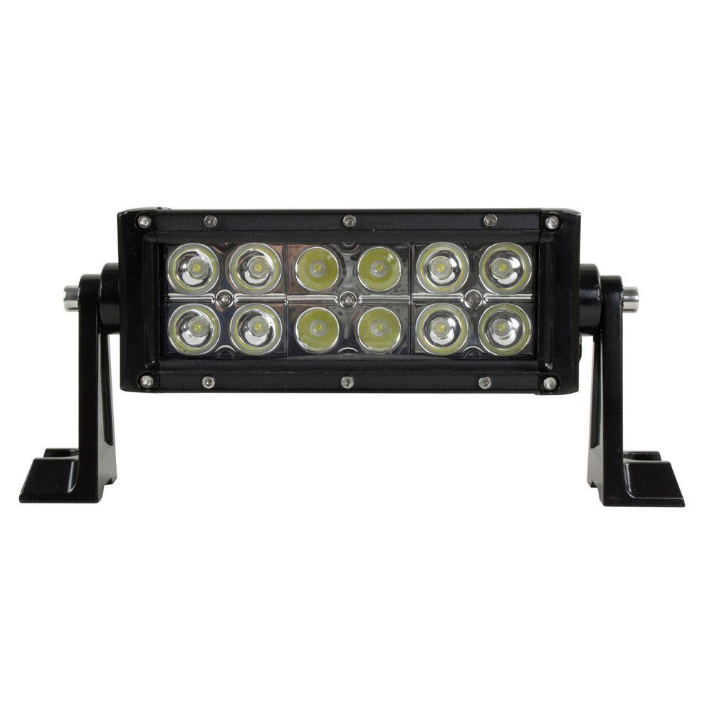 medium resolution of led 7 in off road light bar with spot and flood beam pattern