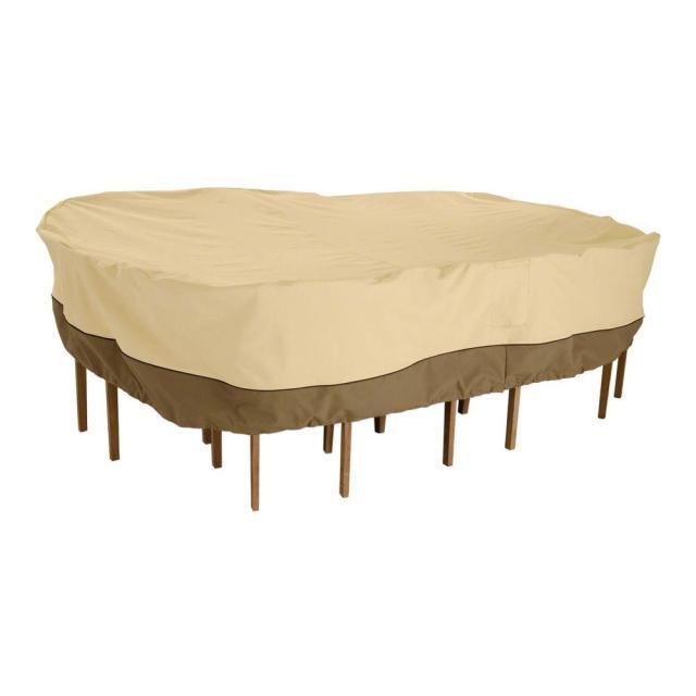 classic accessories veranda x-large rectangular patio table and