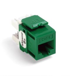 quickport extreme cat 6 connector with t568a b wiring green 25 pack [ 1000 x 1000 Pixel ]