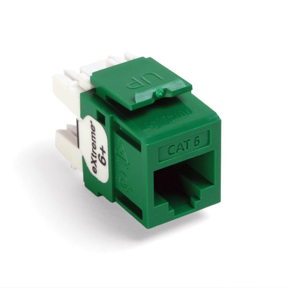 medium resolution of quickport extreme cat 6 connector with t568a b wiring green 25 pack