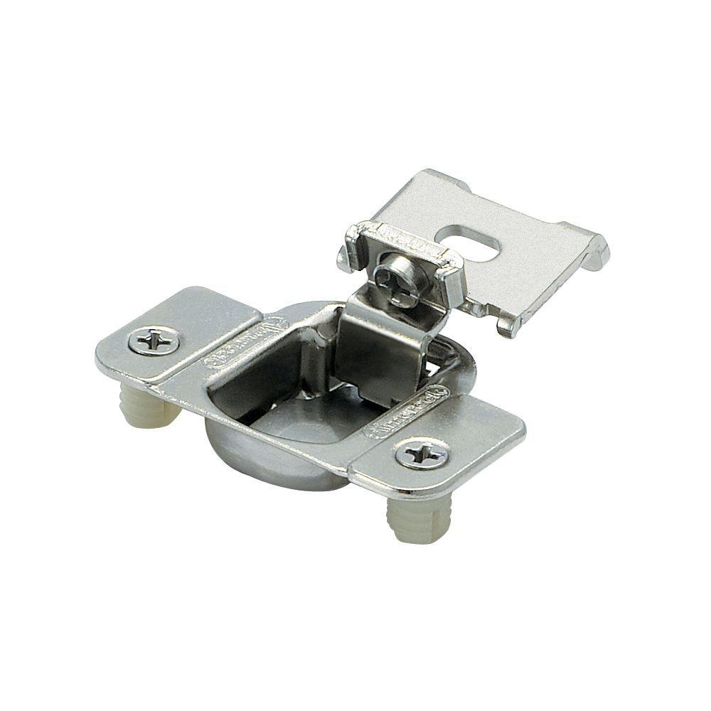 kitchen cabinet hardware hinges vinyl flooring amerock 1 2in 13 mm overlay matrix concealed nickel hinge 2 pack