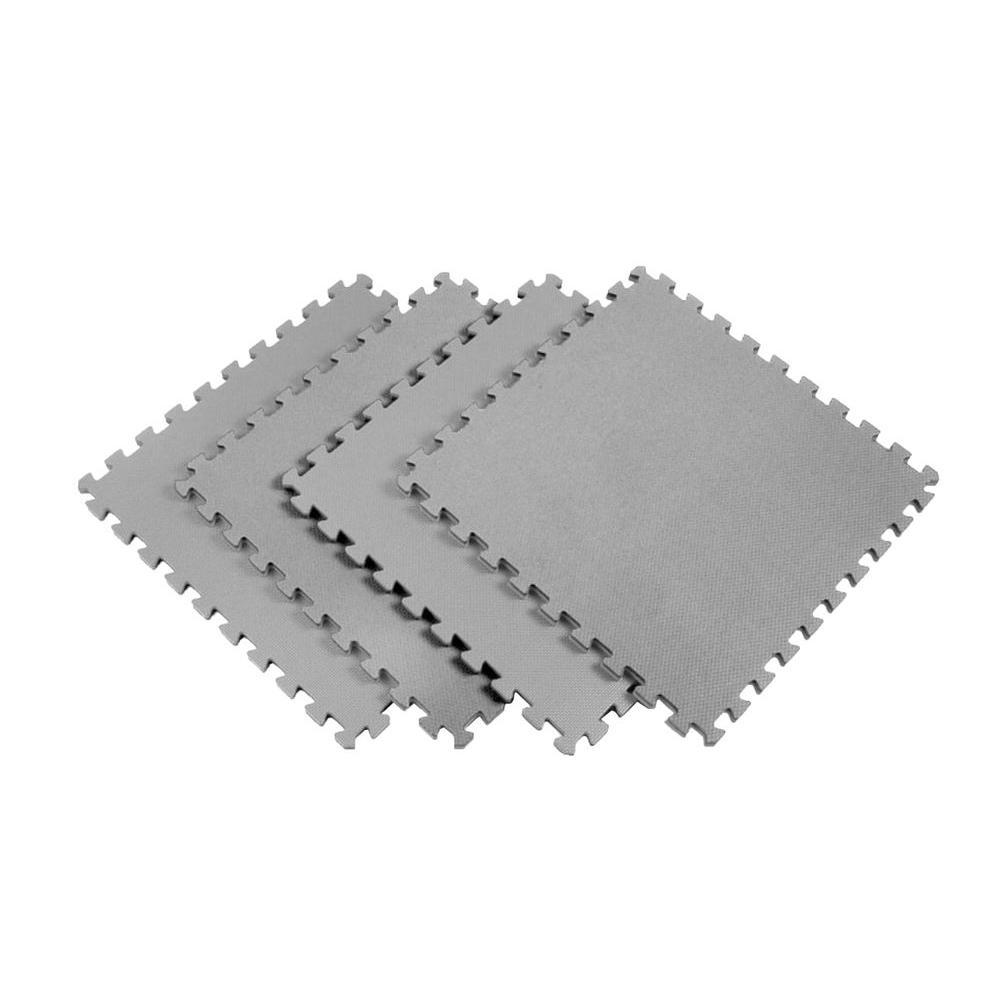 Norsk MultiPurpose 24 in x 24 in Interlocking Gray Foam