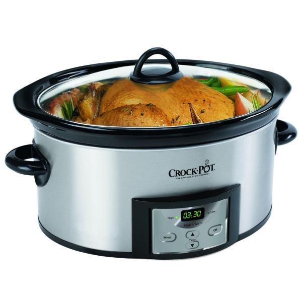 Crock-pot 7 Qt. Manual Slow Cooker-scv700-ss - Home Depot