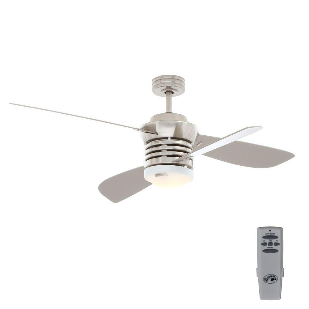 hight resolution of hampton bay pilot 60 in and 52 in indoor brushed nickel ceiling fan with light kit and remote control
