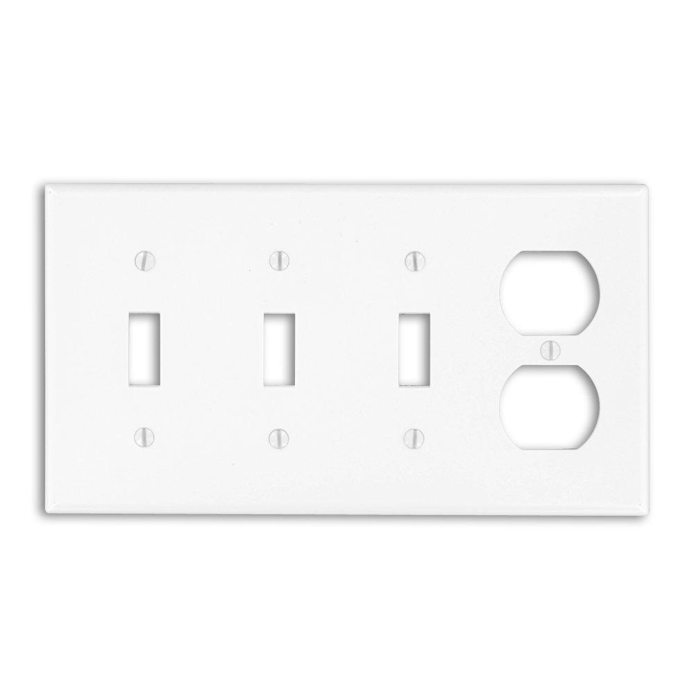 Leviton 4-Gang Standard Size 3-Toggles 1-Duplex Receptacle