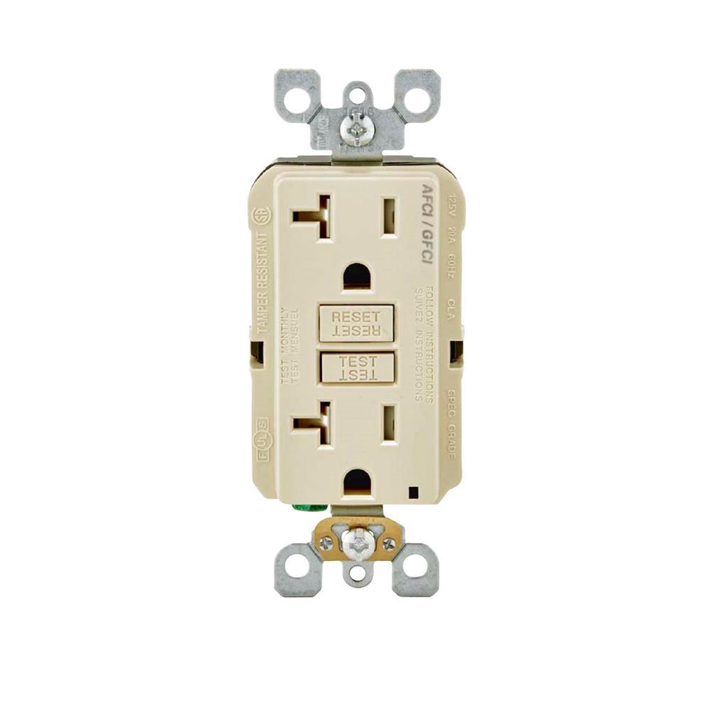 hight resolution of leviton 20 amp 125 volt duplex self test smartlockpro tamper resistant afci gfci