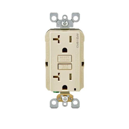 small resolution of leviton 20 amp 125 volt duplex self test smartlockpro tamper resistant afci gfci