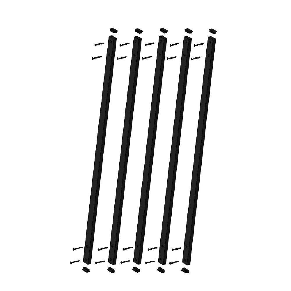 Pegatha 32-1/4 in. x 1 in. Black Aluminum Face Mount Deck