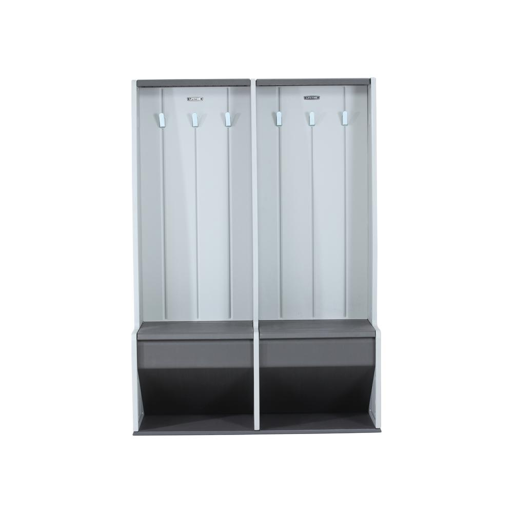 Lifetime 5 Ft X 1 5 Ft X 3 75 Ft Home And Garage Storage Locker System In Gray 60226 The Home Depot