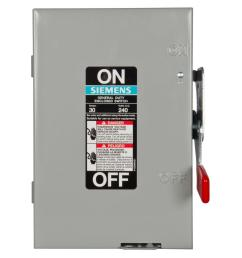 general duty 30 amp 2 pole fusible indoor safety switch with neutral [ 1000 x 1000 Pixel ]