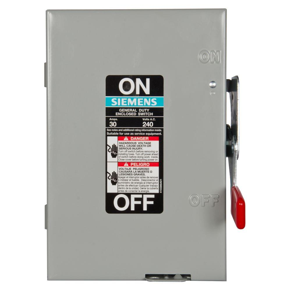 medium resolution of general duty 30 amp 2 pole fusible indoor safety switch with neutral