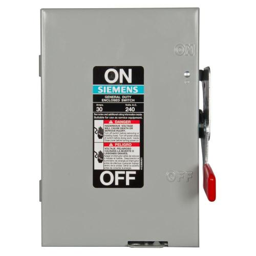 small resolution of general duty 30 amp 2 pole fusible indoor safety switch with neutral
