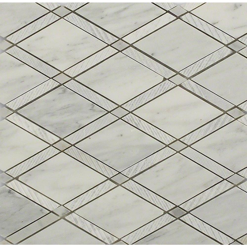 Splashback Tile Royal Herringbone Sand 10-1/2 in. x 12 in