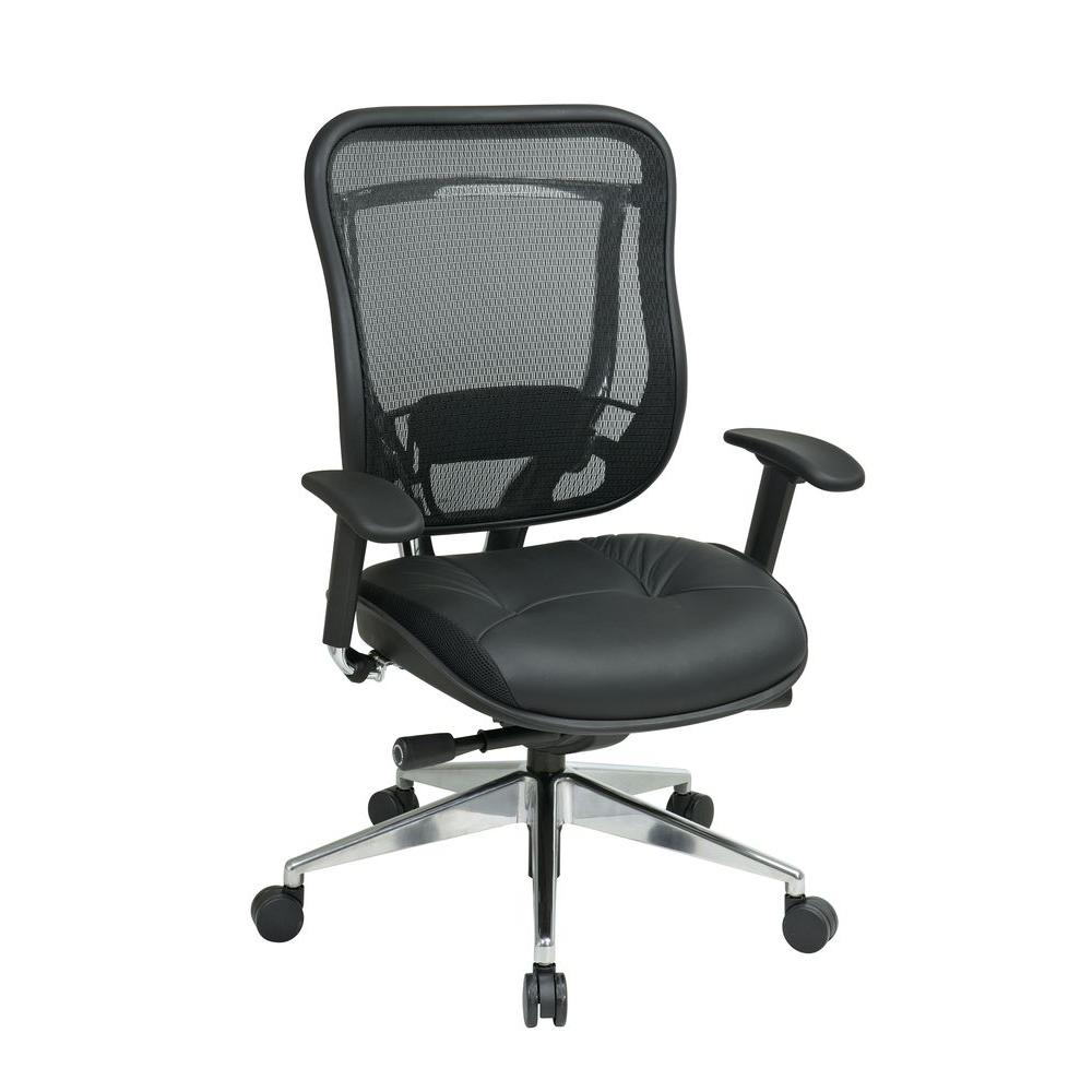 mesh back chairs for office bungee chair academy space seating black high executive 818a 41p9c1a8