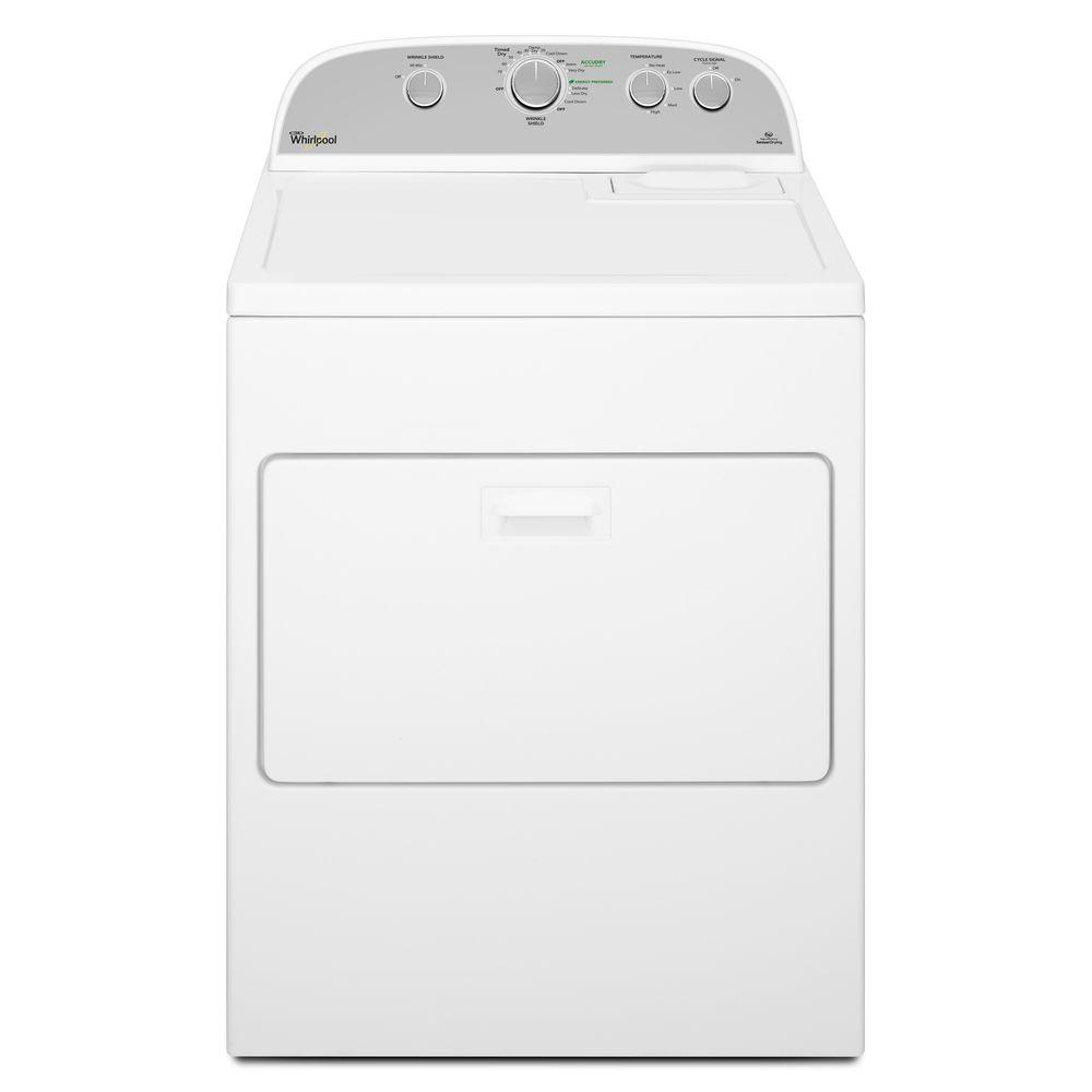 medium resolution of whirlpool 7 0 cu ft 240 volt white electric vented dryer with wrinkle shield plus