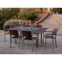 Polywood Euro Textured Silver 7-piece Patio Dining Set
