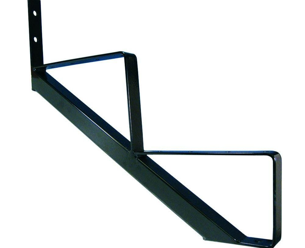 Peak Products 2 Step Powder Coated Finished Steel Stair Riser | Metal Steps Home Depot | Roofing | Galvanized Steel | Step Stool | Gorilla Ladders | Wrought Iron Railings