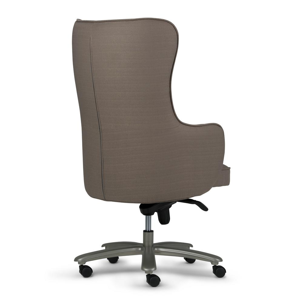 Linen Office Chair Simpli Home Leeds Swivel Adjustable Executive Computer Wingback