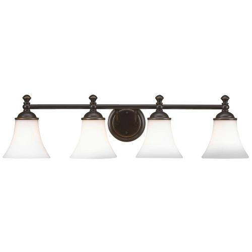 small resolution of hampton bay crawley 4 light oil rubbed bronze vanity light with white glass shades