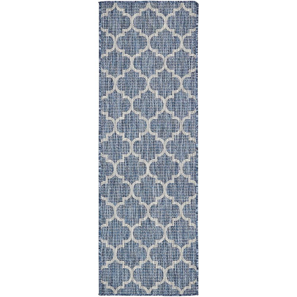 Unique Loom Outdoor Blue 2 x 6 Runner IndoorOutdoor Rug