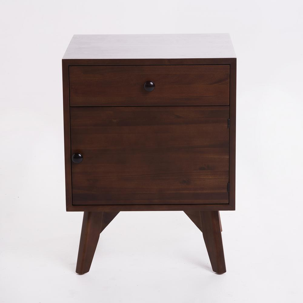 Noble House Walnut Brown Side Cabinet300895  The Home Depot