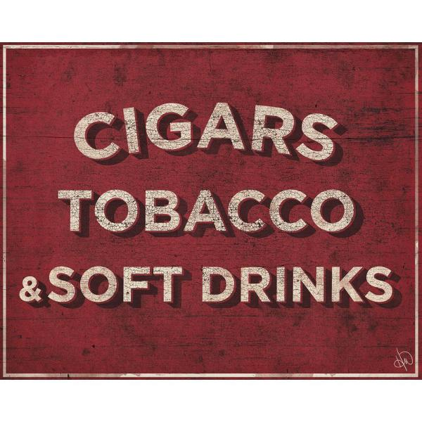 """Creative 11 In. X 14 """"cigars Soft Drinks Country Store Sign"""" Barnwood Framed Wall"""